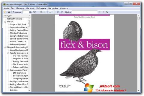 Скріншот Sumatra PDF для Windows 7