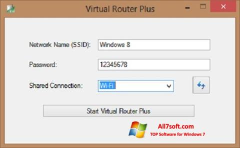 Скріншот Virtual Router Plus для Windows 7