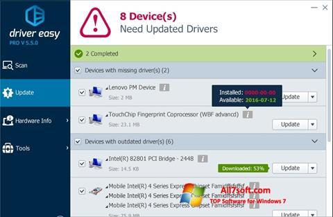 Скріншот Driver Easy для Windows 7