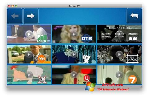 Скріншот Crystal TV для Windows 7