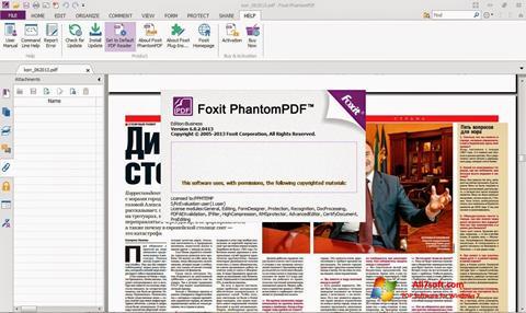 Скріншот Foxit Phantom для Windows 7