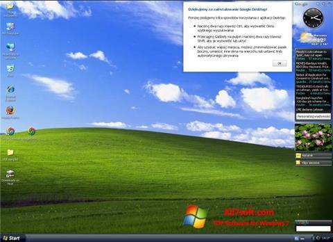 Скріншот Google Desktop для Windows 7