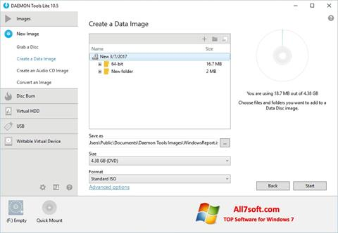 Скріншот DAEMON Tools Lite для Windows 7
