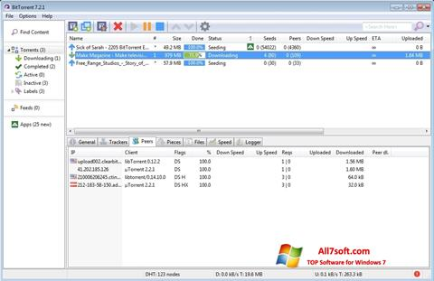 Скріншот BitTorrent для Windows 7