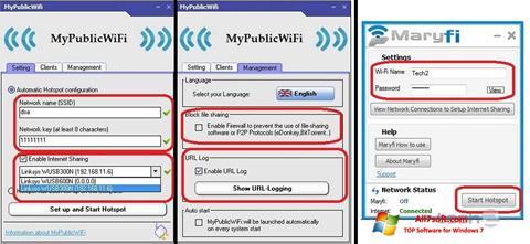 Скріншот MaryFi для Windows 7