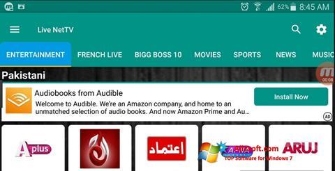 Скріншот Net TV для Windows 7