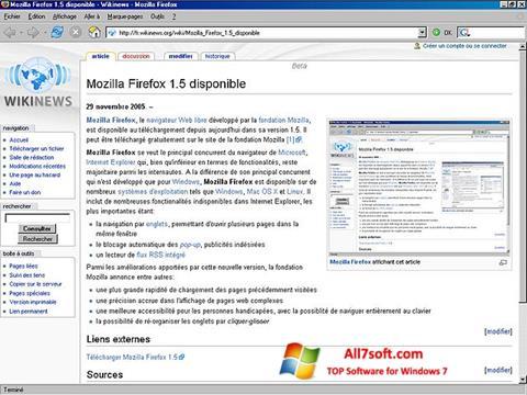Скріншот Mozilla Firefox для Windows 7