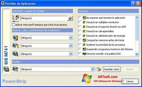 Скріншот PowerStrip для Windows 7