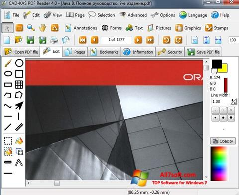 Скріншот PDF Reader для Windows 7