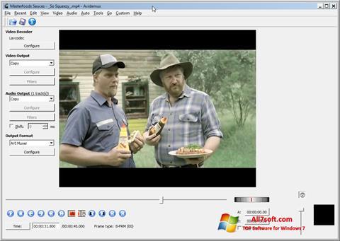 Скріншот Avidemux для Windows 7