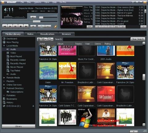 Скріншот Winamp для Windows 7