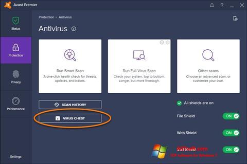 Скріншот Avast для Windows 7