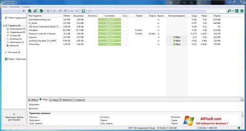 Скріншот uTorrent для Windows 7