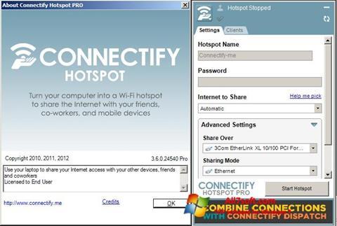 Скріншот Connectify для Windows 7