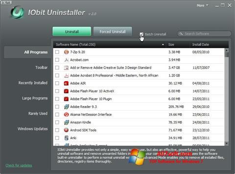 Скріншот IObit Uninstaller для Windows 7