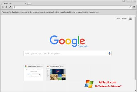 Скріншот Google Chrome для Windows 7