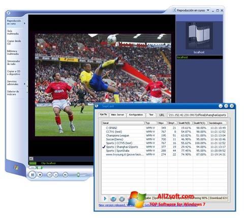 Скріншот SopCast для Windows 7