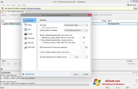 Скріншот GoodSync для Windows 7