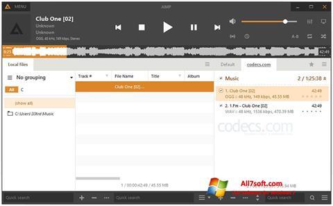 Скріншот AIMP для Windows 7
