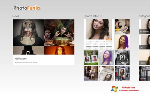 Скріншот PhotoFunia для Windows 7