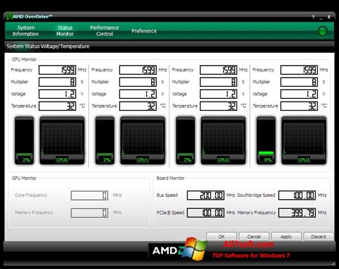 Скріншот AMD Overdrive для Windows 7