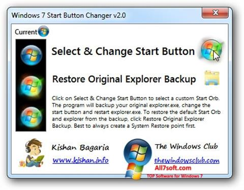 Скріншот Windows 7 Start Button Changer для Windows 7