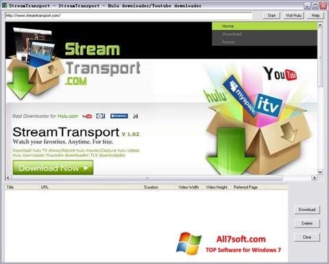 Скріншот StreamTransport для Windows 7